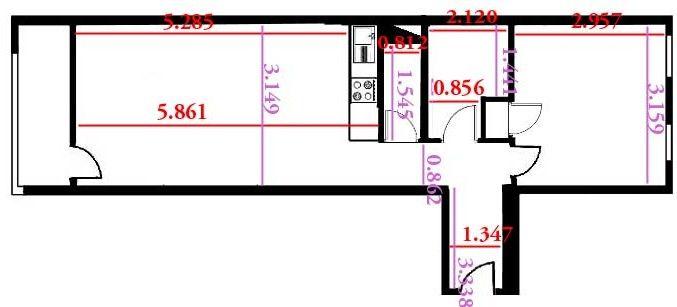 Plan de la location Location Appartement 73448 Val d'Isère