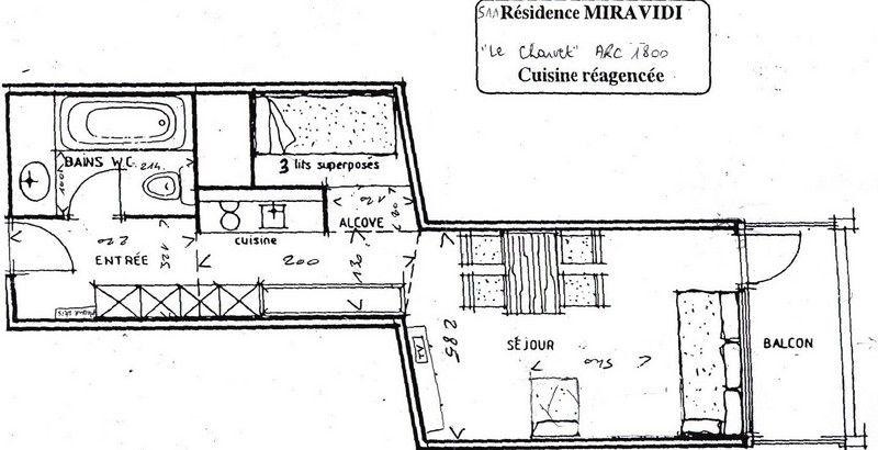 Plan de la location Location Studio 80949 Les Arcs
