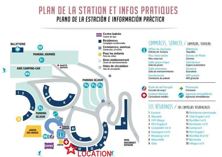 Plan de la location Location Appartement 80304 Piau Engaly