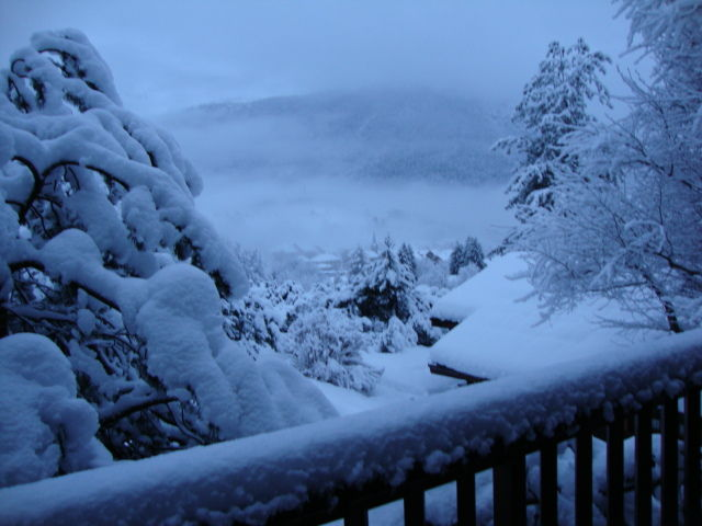 Vue du balcon Location Chalet 84818 La Clusaz