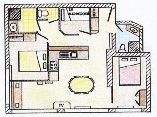 Plan de la location Location Appartement 95442 Le Grand Bornand