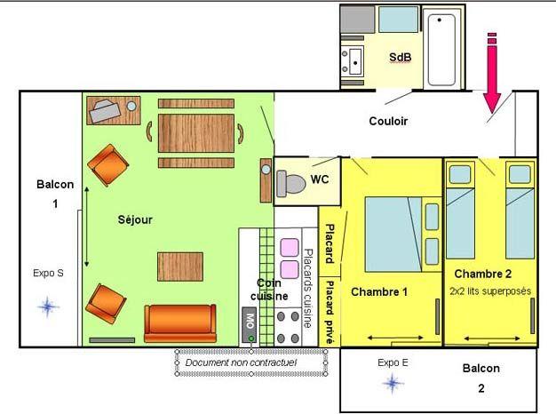 Plan de la location Location Appartement 1219 Les 2 Alpes