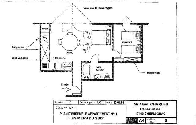 Plan de la location Location Appartement 15696 Font Romeu