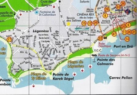 Carte Location Villa 15841 Carnac