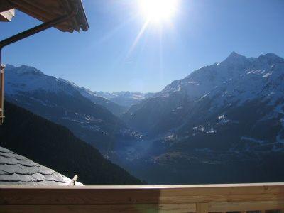 Vue du balcon Location Appartement 16377 La Rosière 1850