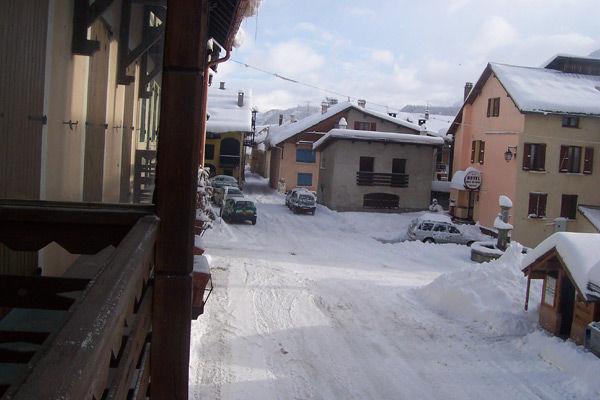 Vue du balcon Location Maison 16964 Montgenevre