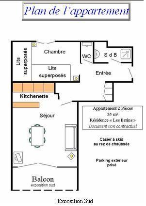 Plan de la location Location Appartement 17219 Les 2 Alpes