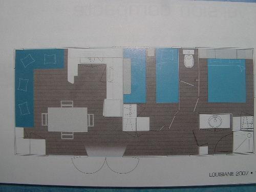 Plan de la location Location Mobil-home 17224 Deauville