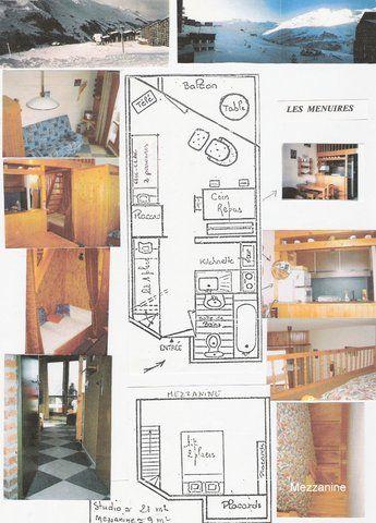 Plan de la location Location Studio 1724 Les Menuires