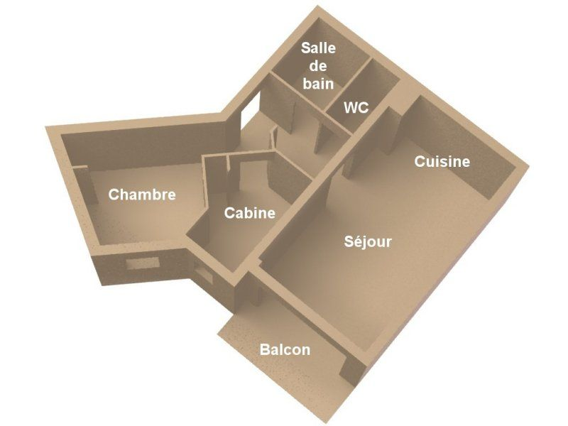 Plan de la location Location Appartement 1794 Méribel
