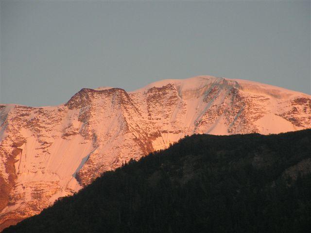 Vue depuis la location Location Appartement 18013 Saint Gervais Mont-Blanc