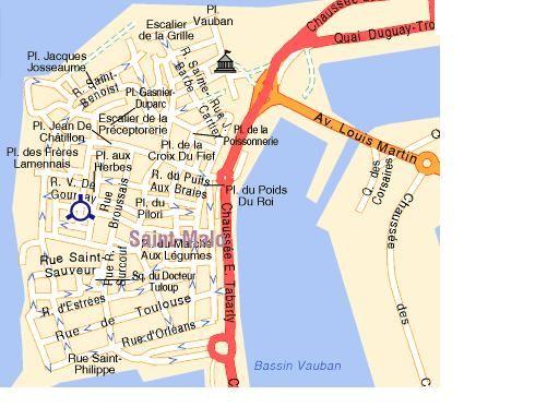 Plan de la location Location Appartement 19262 Saint Malo