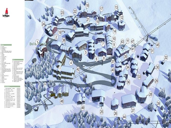 Carte Location Studio 2120 La Plagne