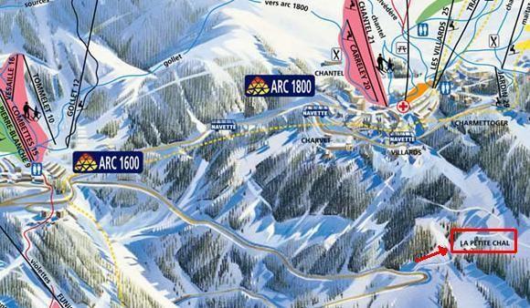 Carte Location Chalet 213 Les Arcs