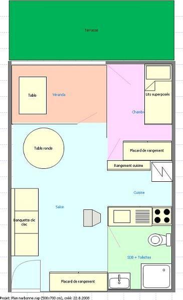 Plan de la location Location Appartement 22007 Narbonne plage