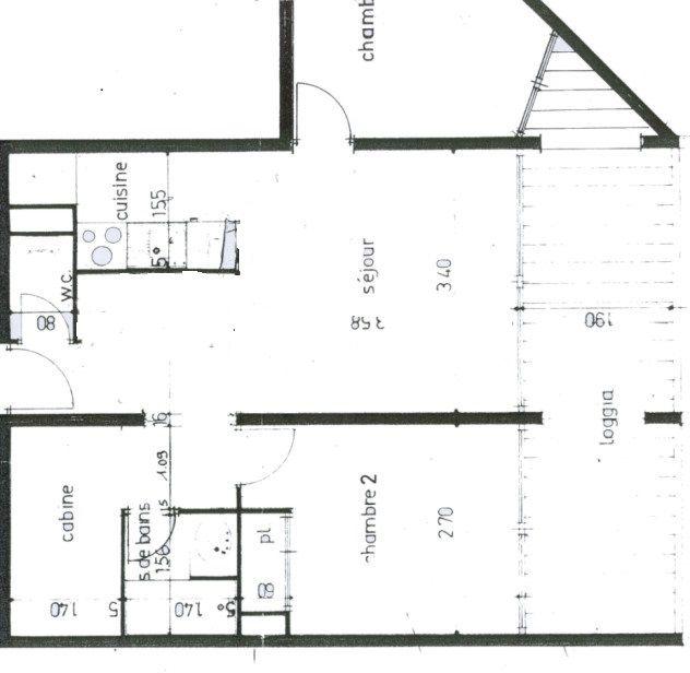 Plan de la location Location Appartement 26554 Palavas-les-Flots