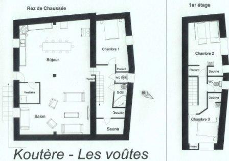 Plan de la location Location Chalet 26775 Les Menuires