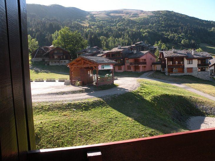 Vue de la terrasse Location Appartement 27090 Valmorel