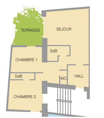 Plan de la location Location Appartement 27146 Valloire