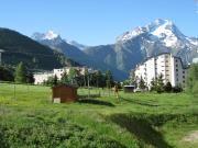 Vue du balcon Location Studio 27271 Les 2 Alpes