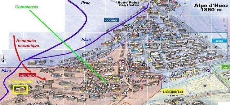 Carte Location Appartement 27866 Alpe d'Huez