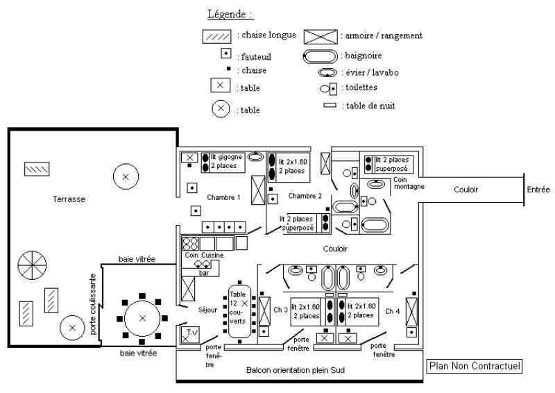 Plan de la location Location Appartement 27866 Alpe d'Huez