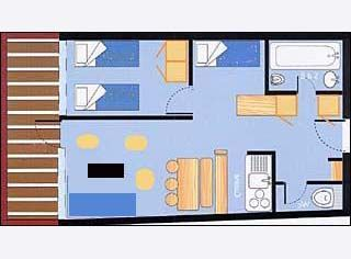 Plan de la location Location Appartement 28016 Les Arcs