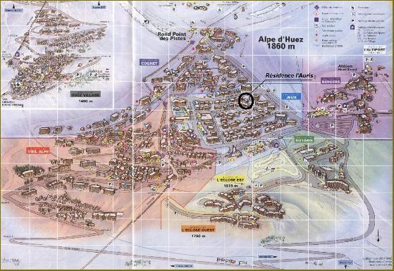 Carte Location Appartement 28097 Alpe d'Huez