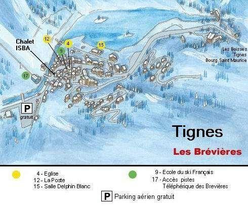 Plan de la location Location Chalet 3083 Tignes