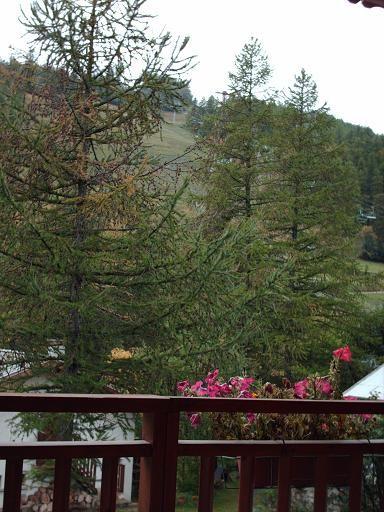 Vue du balcon Location Studio 32244 Serre Chevalier