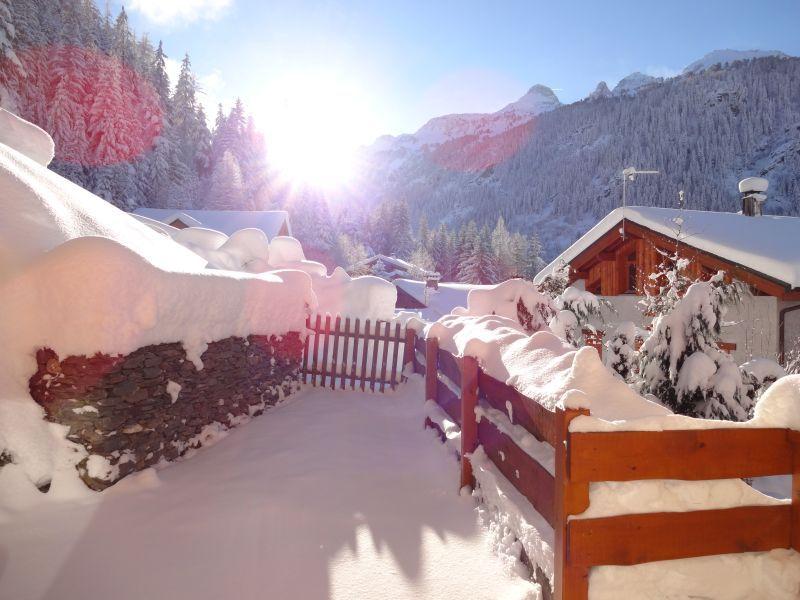 Vue de la terrasse Location Chalet 3291 Valfréjus