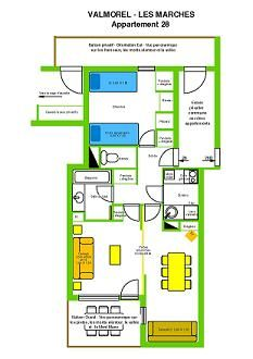 Plan de la location Location Appartement 3483 Valmorel