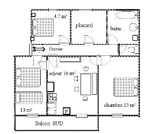 Plan de la location Location Appartement 35822 Val Cenis