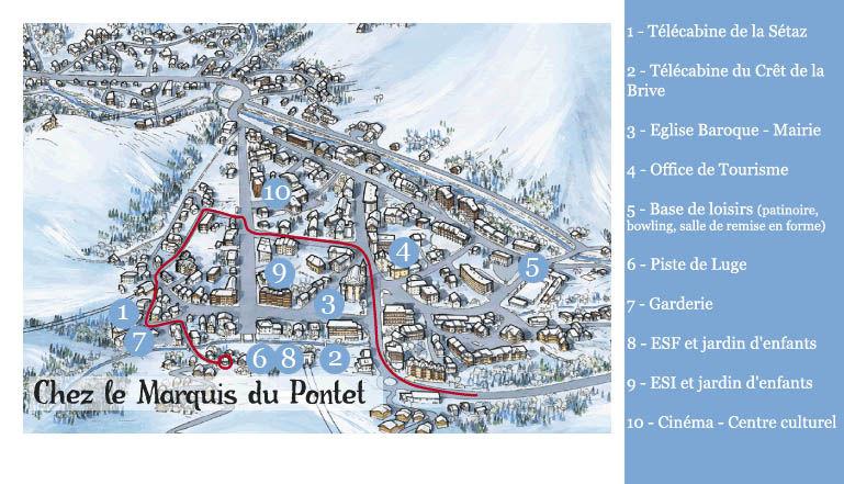 Carte Location Appartement 38237 Valloire