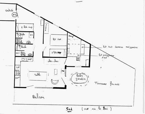 Plan de la location Location Appartement 3830 Besse - Super Besse