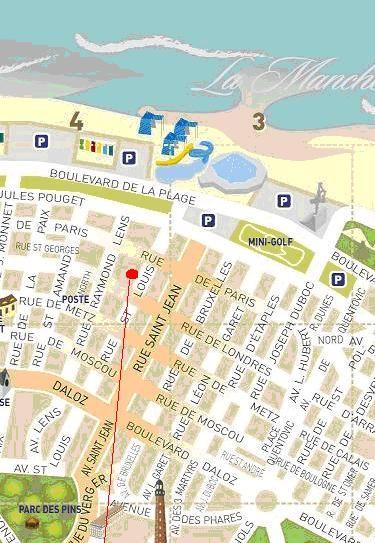 Carte Location Studio 38630 Le Touquet