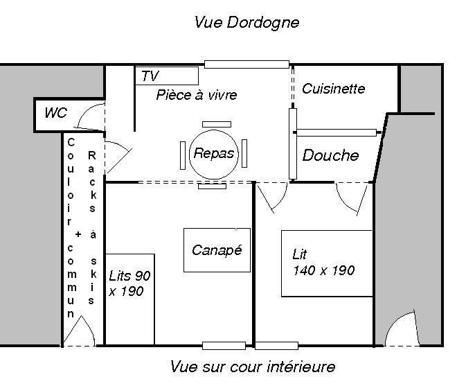 Plan de la location Location Appartement 38684 Le Mont Dore