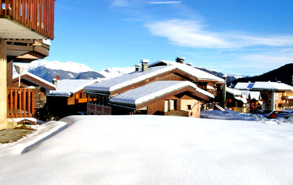 Vue de la terrasse Location Appartement 38847 Valmorel