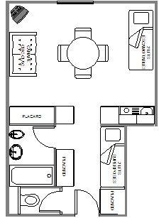 Plan de la location Location Studio 39509 Le Corbier