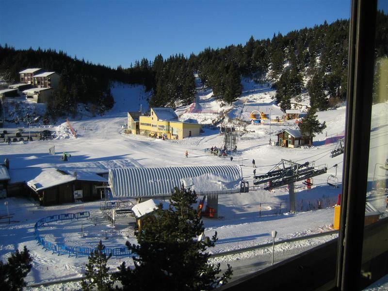 Vue de la terrasse Location Studio 3983 Bolquère Pyrenées 2000