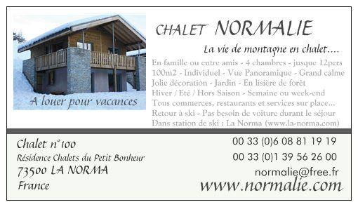 Carte Location Chalet 40769 La Norma