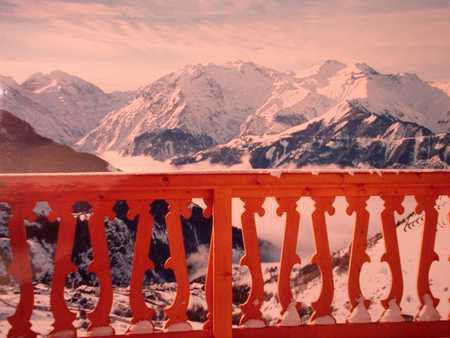 Vue du balcon Location Appartement 42 Alpe d'Huez
