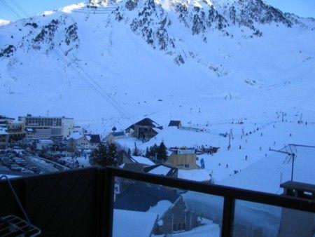 Vue du balcon Location Studio 4288 La Mongie