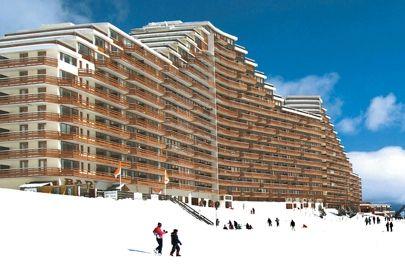Vue extérieure de la location Location Appartement 4314 La Mongie