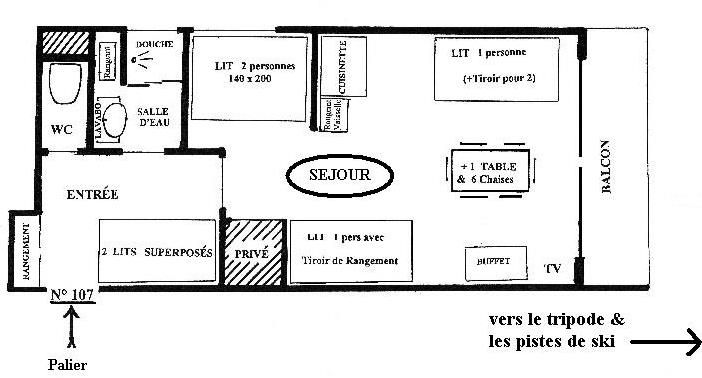 Plan de la location Location Appartement 49618 Le Corbier