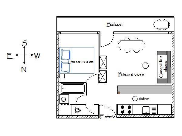 Plan de la location Location Appartement 51118 Courchevel