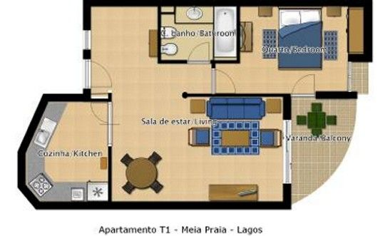 Plan de la location Location Appartement 54542 Meia Praia