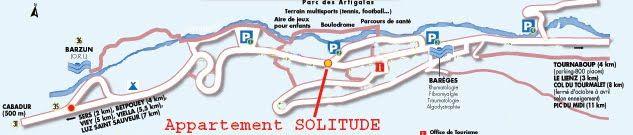 Plan de la location Location Appartement 54628 Lourdes