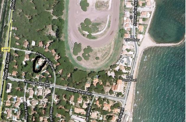 Plan de la location Location Villa 54711 Hyères