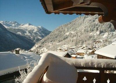 Vue du balcon Location Chalet 577 Champagny en Vanoise